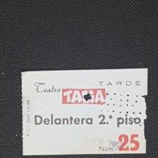 Cine: ENTRADA TEATRO TALIA DE BARCELONA AÑO 1954 DELANTERA 2º PISO. Lote 233459190