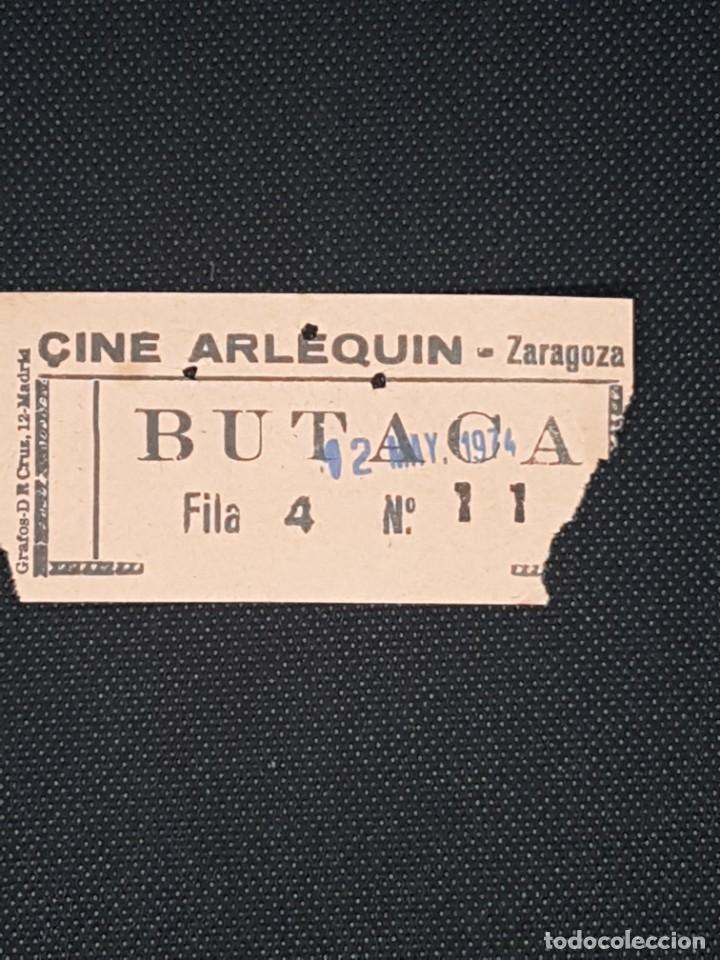 ENTRADA CINE ARLEQUÍN DE ZARAGOZA AÑO 1974 (Cine - Entradas)