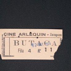 Cine: ENTRADA CINE ARLEQUÍN DE ZARAGOZA AÑO 1974. Lote 233459330