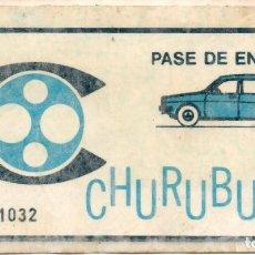 Cine: PASE DE ENTRADA ESTUDIOS CHURUBUSCO. Lote 234898285