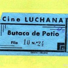 Cine: ENTRADA CINE LUCHANA AÑOS 1950/60. Lote 235255465