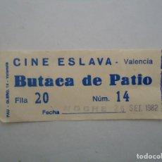 Cine: ENTRADA DE CINE ESLAVA DE VALENCIA. AÑO 1982.. Lote 235679765