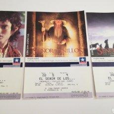 Cinéma: TRES 3 ENTRADAS TICKETS CINE EL SEÑOR DE LOS ANILLOS KINEPOLIS MADRID. Lote 236792055
