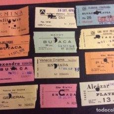Cinéma: LOTE DE 12 ENTRADAS DE TEATROS Y CINES DE BARCELONA. AÑOS 60 - 70. Lote 236837580