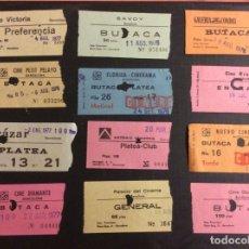 Cinéma: LOTE DE 12 ENTRADAS DE TEATROS Y CINES DE BARCELONA. AÑOS 60 - 70. Lote 236837690