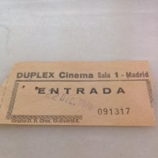 Cinema: ANTIGUA ENTRADA DE CINE DÚPLEX CINEMA 1976. Lote 239583800