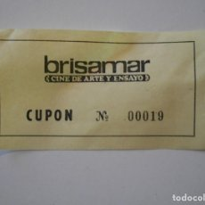 Cine: CINE BRISAMAR. CINE DE ARTE Y ENSAYO. GIJON. CUPON.. Lote 240403615