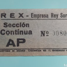 Cinema: TICKET ENTRADA CINE REX. MADRID. AÑOS 60.. Lote 240609695