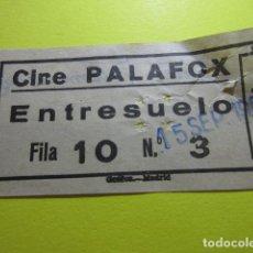 Cine: ENTRADA CINE PALAFOX 15 SEPTIEMBRE 1963 EN PARTE TRASERA PONE PELICULA HOTEL INTERNACIONAL. Lote 242486990