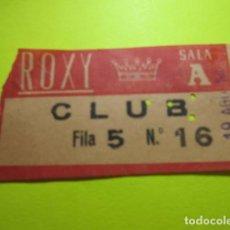 Cine: ENTRADA CLUB ROXY SALA A 19 AGOSTO 1963 EN TRASERA PONE PELICULA MISION EN LA JUNGLA. Lote 242487365
