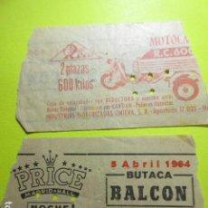 Cine: ENTRADA PRICE MADRID HALL 5 ABRIL 1964. Lote 242487845