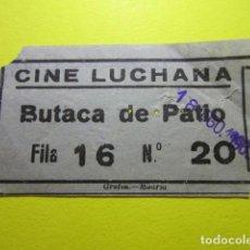 Cine: ENTRADA CINE LUCHANA 18 AGOSTO 1963 DETRAS PONE PELICULA AL HAMPA DE PARIS. Lote 242488040