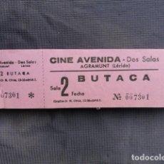 Cine: TALONARIO ENTRADAS CINE AVENIDA. AGRAMUNT. LLEIDA.. Lote 243241370