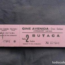 Cine: TALONARIO ENTRADAS CINE AVENIDA. AGRAMUNT. LLEIDA.. Lote 243242390