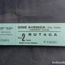 Cine: TALONARIO ENTRADAS CINE AVENIDA. AGRAMUNT. LLEIDA.. Lote 243243155