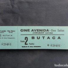 Cine: TALONARIO ENTRADAS CINE AVENIDA. AGRAMUNT. LLEIDA.. Lote 243243915