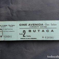 Cine: TALONARIO ENTRADAS CINE AVENIDA. AGRAMUNT. LLEIDA.. Lote 243244705