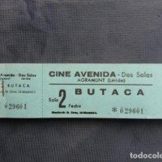 Cine: TALONARIO ENTRADAS CINE AVENIDA. AGRAMUNT. LLEIDA.. Lote 243246040