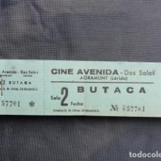 Cine: TALONARIO ENTRADAS CINE AVENIDA. AGRAMUNT. LLEIDA.. Lote 243246915