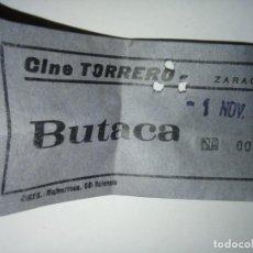 Cine: ENTRADA CINE TORRERO ZARAGOZA AÑO 1973. Lote 243139035