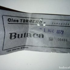 Cine: ENTRADA CINE TORRERO ZARAGOZA AÑO 1973. Lote 243139310