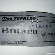 Cinéma: ENTRADA CINE TORRERO ZARAGOZA AÑO 1973. Lote 243139500