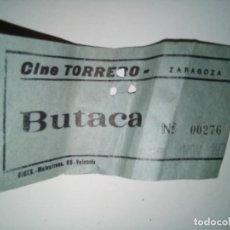 Cine: ENTRADA CINE TORRERO ZARAGOZA AÑO 1973. Lote 243139845