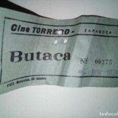 Cine: ENTRADA CINE TORRERO ZARAGOZA AÑO 1973. Lote 243139985