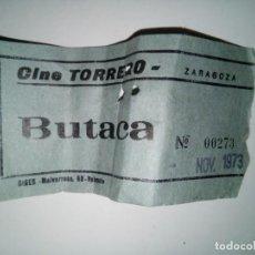 Cine: ENTRADA CINE TORRERO ZARAGOZA AÑO 1973. Lote 243140195