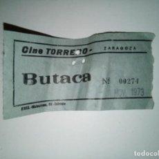 Cine: ENTRADA CINE TORRERO ZARAGOZA AÑO 1973. Lote 243140325