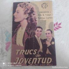 Cine: ANTIGUA ENTRADA DE CINE 1930/1940. Lote 244071290