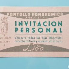 Cine: ENTRADA CINE LIDO. PANTALLA PANORÁMICA.. Lote 245007625