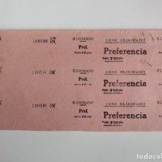 Cine: 3 ENTRADAS CINE EL DORADO - BARCELONA - AÑOS 40 - HOJA SIN CORTAR...L3577. Lote 247934110