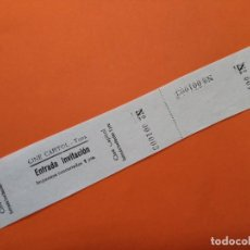 Cine: ENTRADA CINE CAPITOL - TONA (OSONA) - AÑOS 40 ...L3590. Lote 247952465