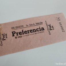Cine: ENTRADA CINE RECREATIVO - SAN PEDRO DE RIUDEVITLLES ( BARCELONA) - AÑOS 40 ...L3594. Lote 247954200