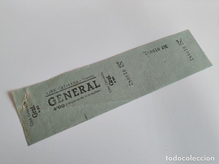 ENTRADA CINE CATALUÑA - TORELLÓ ( BARCELONA) - AÑOS 40 ...L3595 (Cine - Entradas)