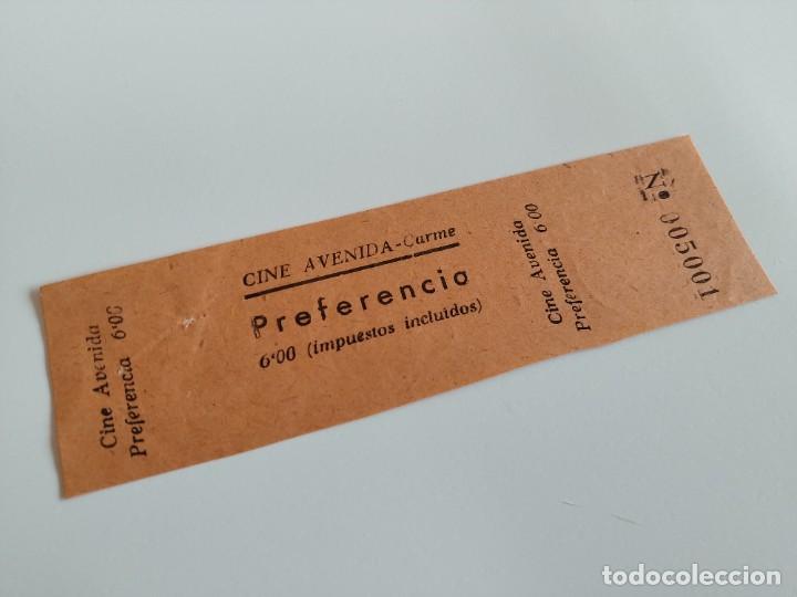 ENTRADA CINE AVENIDA - CARME ( BARCELONA) - AÑOS 40 ...L3597 (Cine - Entradas)