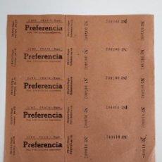 Cine: 6 ENTRADAS DEL CINE PRADO - SITGES ( BARCELONA) - AÑOS 40 ...L3601. Lote 247959135