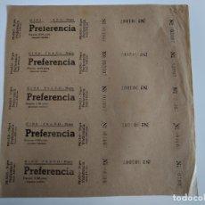 Cine: 5 ENTRADAS DEL CINE PRADO - SITGES ( BARCELONA) - AÑOS 40 ...L3602. Lote 247959500
