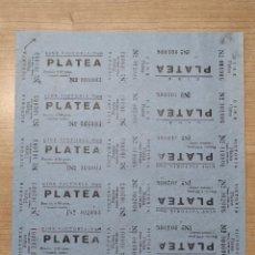 Cine: 12 ENTRADAS DEL CINE VICTORIA - SITGES ( BARCELONA) - AÑOS 40 ...L3605. Lote 247962850