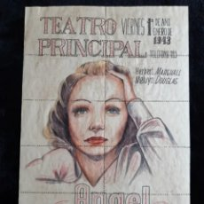 Cine: HOLA DE ENTRADAS DE LA PELÍCULA ANGEL . TEATRO PRINCIPAL . 1943. Lote 248221450