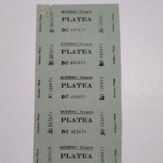 Cine: 6 ENTRADAS CINE MODERNO - TARRAGONA - AÑOS 40, HOJA SIN CORTAR...L3628. Lote 248227695