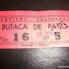 Cine: ENTRADA DE CINE ALAMEDA DE SANTANDER - PELICULA FESTIVAL TOM Y JERRY - AÑOS 60. Lote 248246650