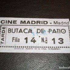 Cinéma: ENTRADA DE CINE MADRID DE MADRID - PELICULA ANA DE SILVANA MANGANO VICTORIO GASMAN 1966. Lote 248250060