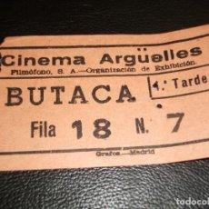 Cinéma: ENTRADA DE CINE CINEMA ARGÜELLES DE MADRID - PELICULA EL CAPITAN VOM RYAN FRANK SINATRA. Lote 248253310