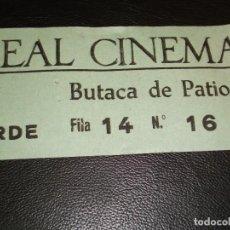 Cinéma: ENTRADA DE CINE REAL CINEMA DE MADRID - PELICULA ZORBA EL GRIEGO ANTHONY QUINN 1965. Lote 248255015