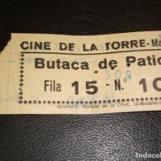 Cinéma: ENTRADA DE CINE DE LA TORRE DE MADRID - PELICULA DONDE ESTAN LOS ESPIAS DAVID NIVEN 1966. Lote 248255430