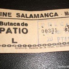 Cinéma: ENTRADA DE CINE SALAMANCA DE MADRID - 1966. Lote 248256415