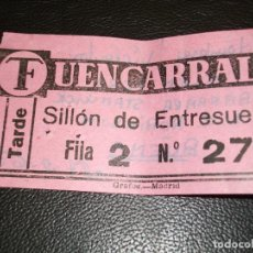 Cine: ENTRADA DE CINE FUENCARRAL DE MADRID - PELICULA HOMBRES VIOLENTOS DE GLEN FORD 1965. Lote 248260340