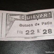 Cinéma: ENTRADA DE CINE BULEVAR DE MADRID - PELICULA RIO CONCHOS GORDON DOUGLAS 1965. Lote 248261920